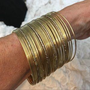 (36) Gold Bangle Bracelets
